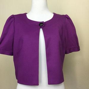 Ann Taylor Loft Purple Shrug 6 NWT